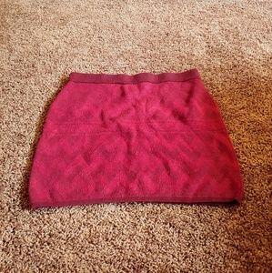 Mossimo burgundy sweater midi skirt